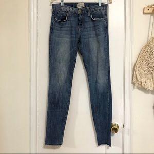 Current/Elliot blue denim skinny jeans 27